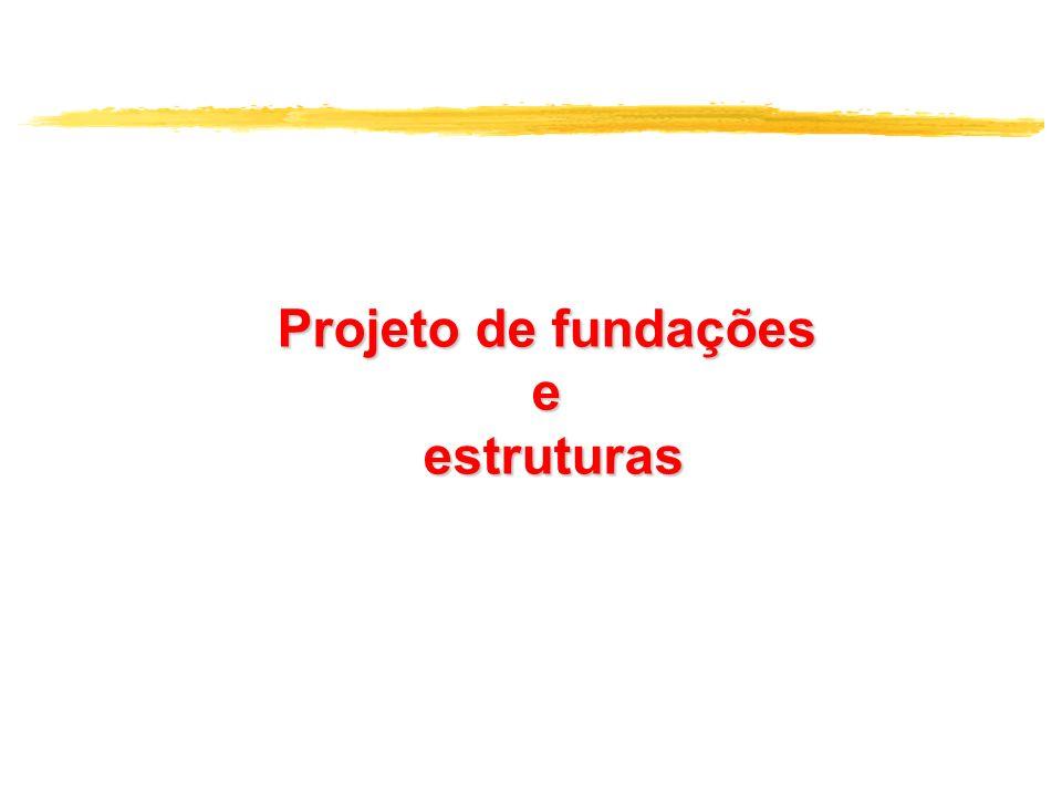 Projeto de fundações e estruturas