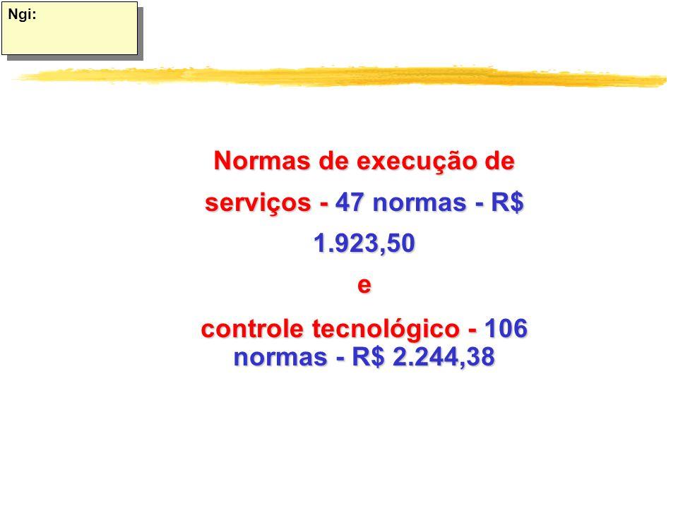 controle tecnológico - 106 normas - R$ 2.244,38