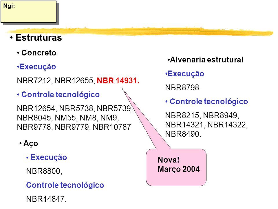 Estruturas Alvenaria estrutural Concreto Execução