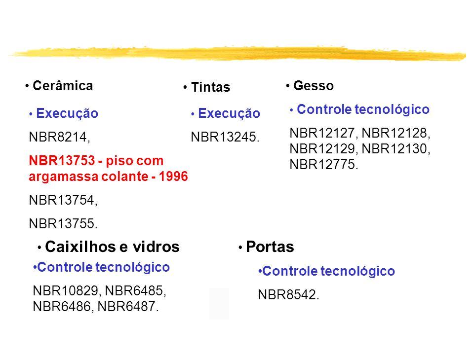 NBR13753 - piso com argamassa colante - 1996