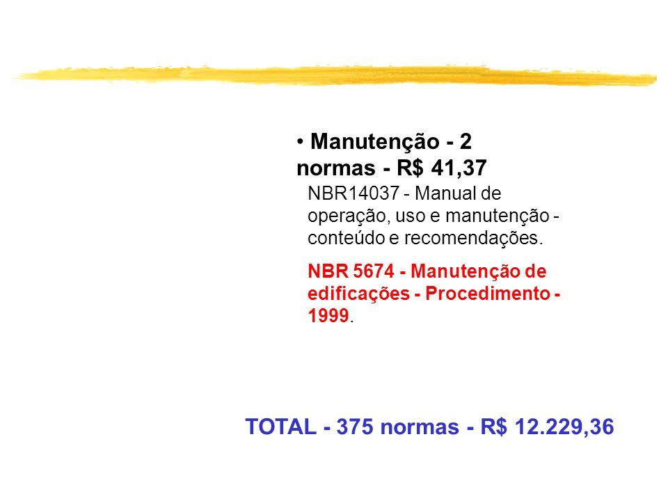 Manutenção - 2 normas - R$ 41,37