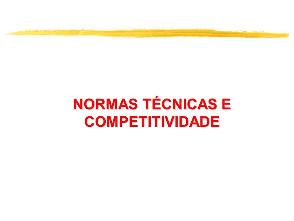 NORMAS TÉCNICAS E COMPETITIVIDADE