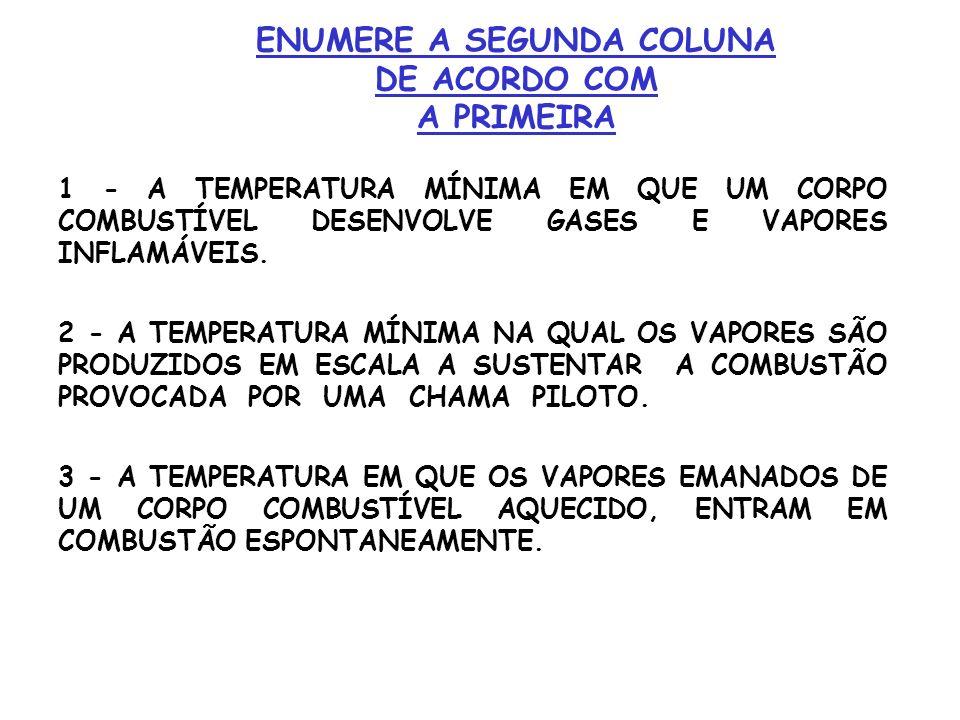ENUMERE A SEGUNDA COLUNA