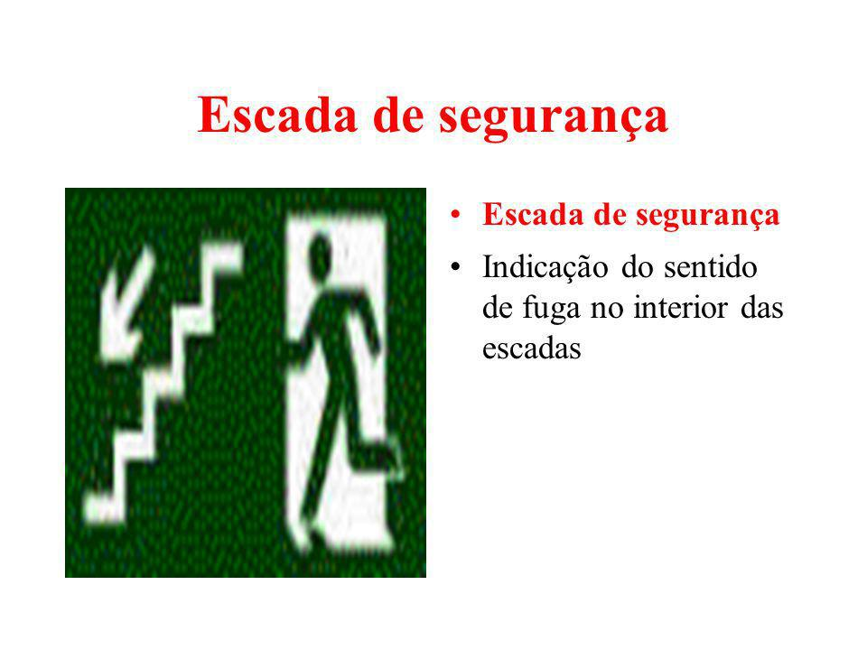 Escada de segurança Escada de segurança