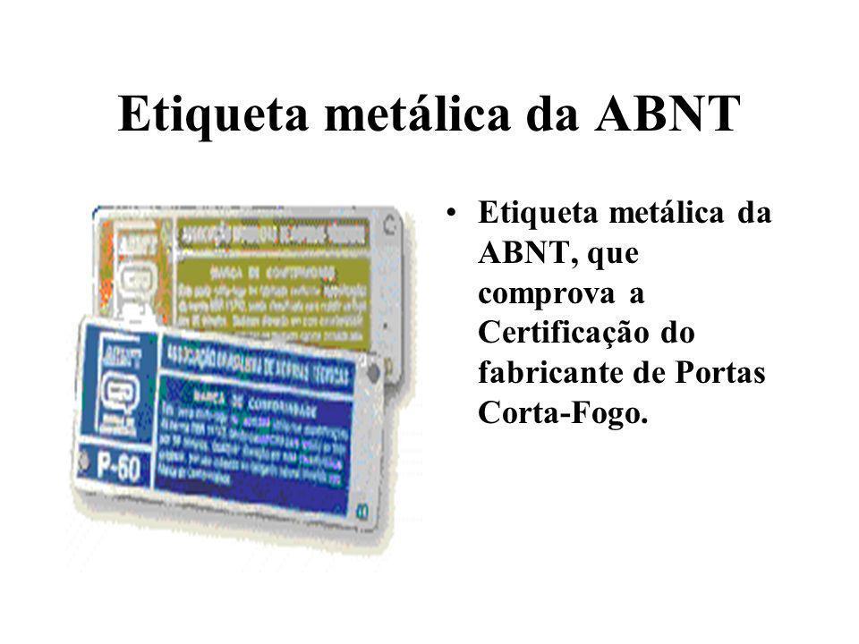 Etiqueta metálica da ABNT