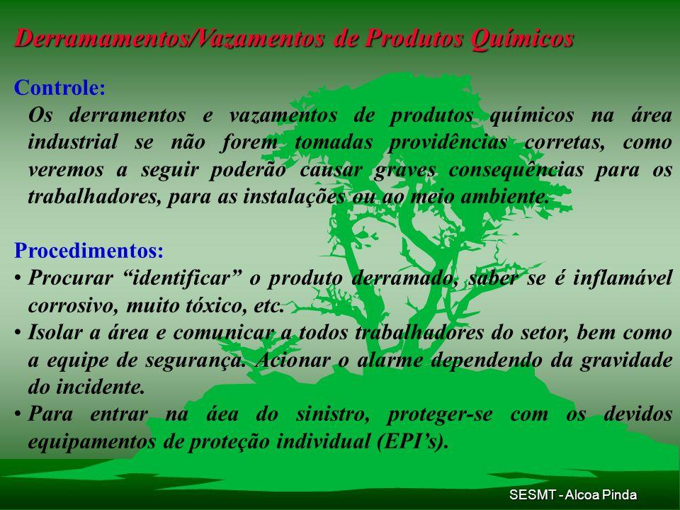 Derramamentos/Vazamentos de Produtos Químicos