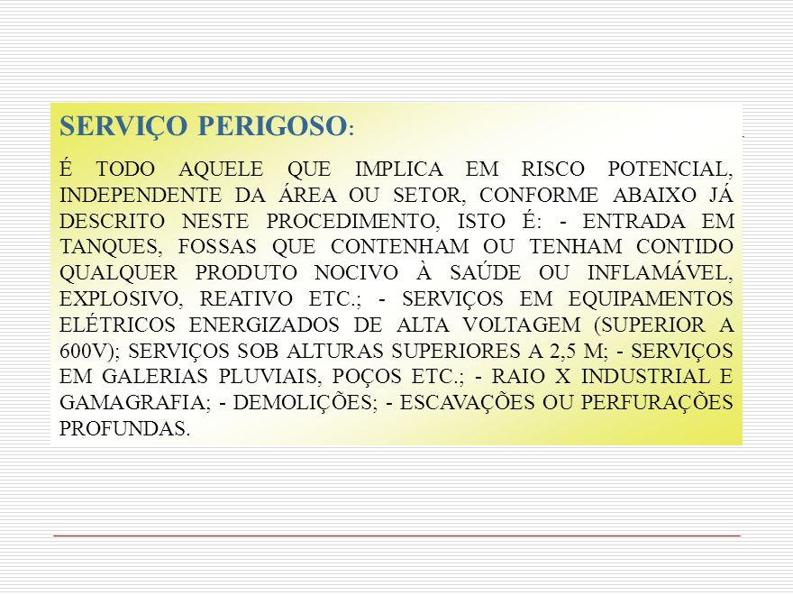 SERVIÇO PERIGOSO: