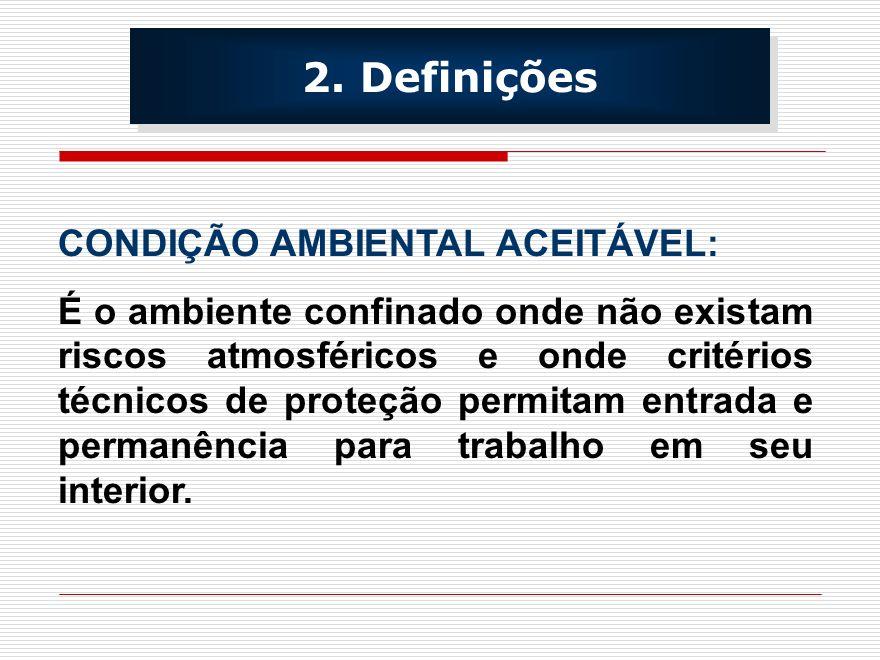 2. Definições CONDIÇÃO AMBIENTAL ACEITÁVEL: