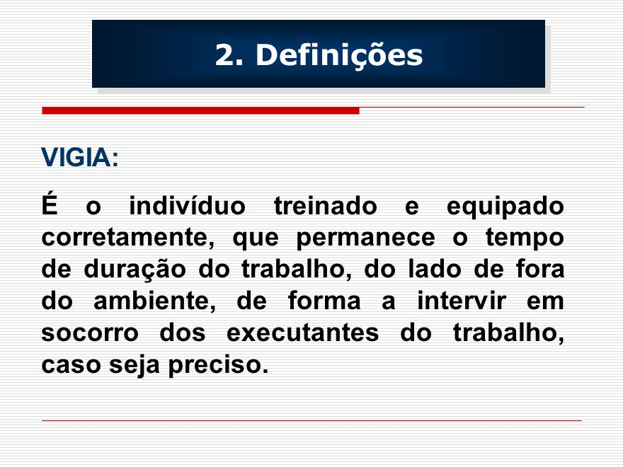 2. Definições VIGIA: