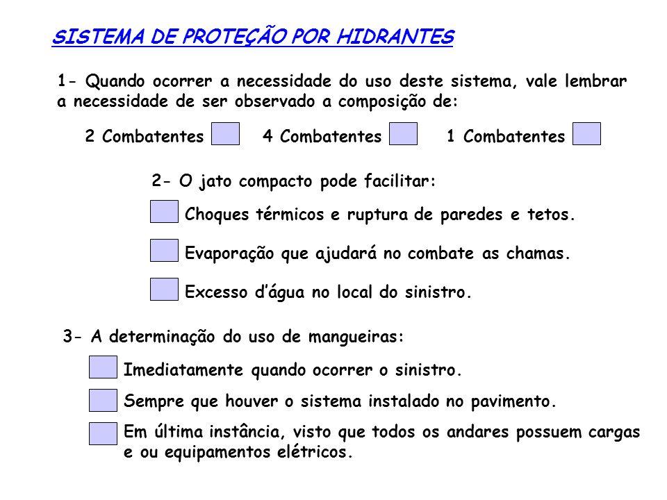SISTEMA DE PROTEÇÃO POR HIDRANTES