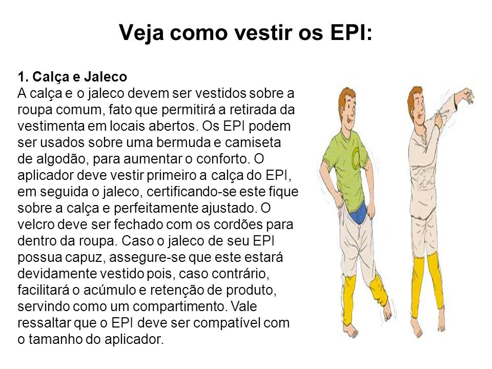 Veja como vestir os EPI: