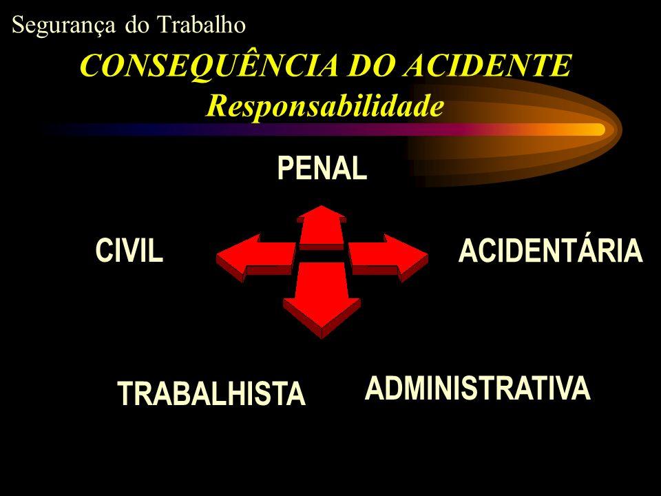 CONSEQUÊNCIA DO ACIDENTE Responsabilidade