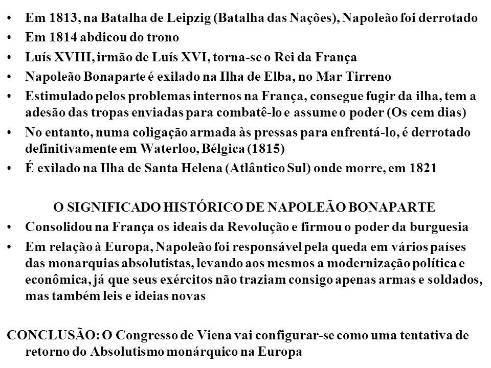 O SIGNIFICADO HISTÓRICO DE NAPOLEÃO BONAPARTE