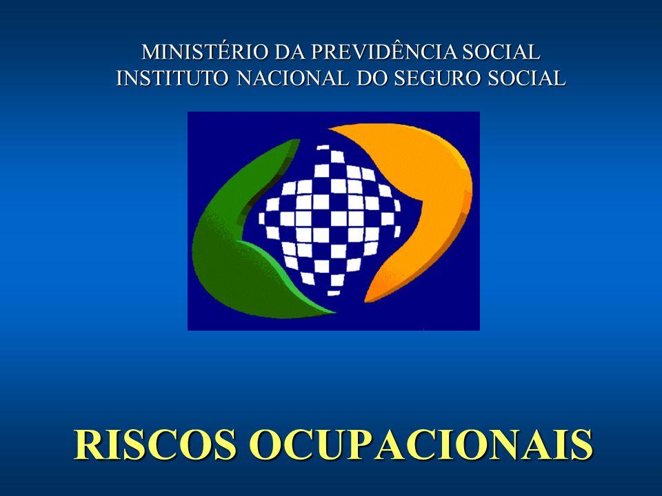 RISCOS OCUPACIONAIS MINISTÉRIO DA PREVIDÊNCIA SOCIAL
