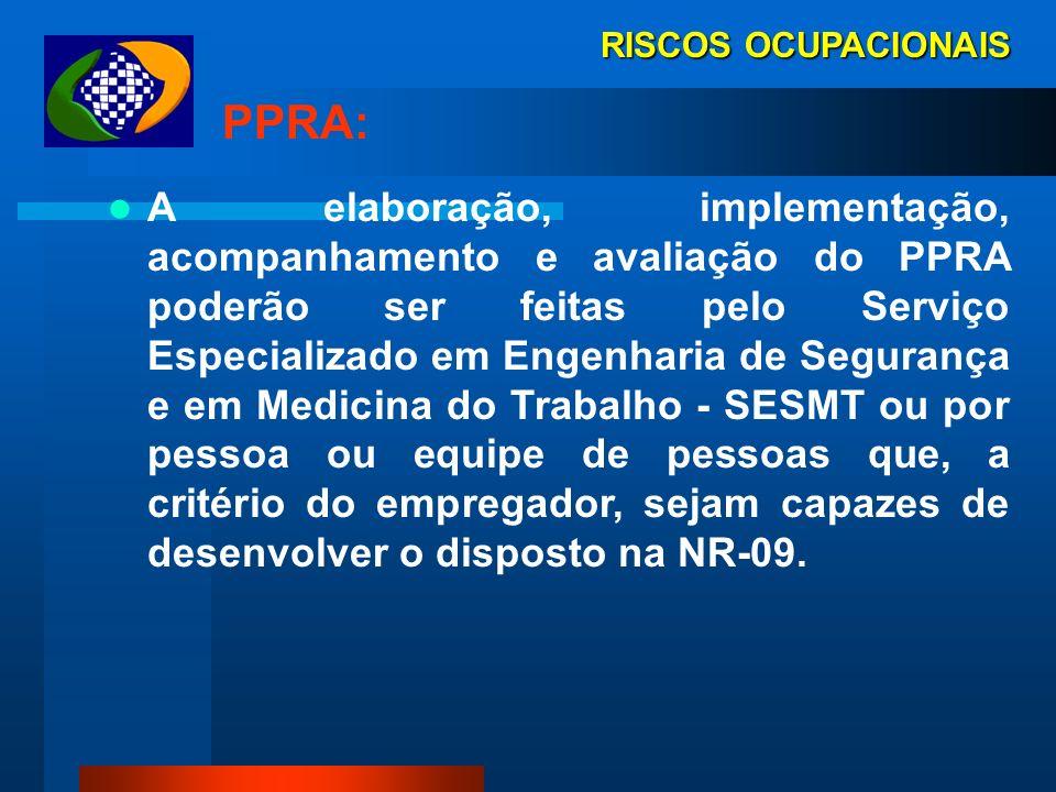 RISCOS OCUPACIONAIS PPRA: