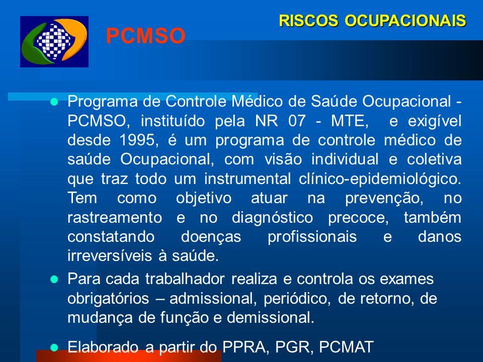 PCMSO RISCOS OCUPACIONAIS