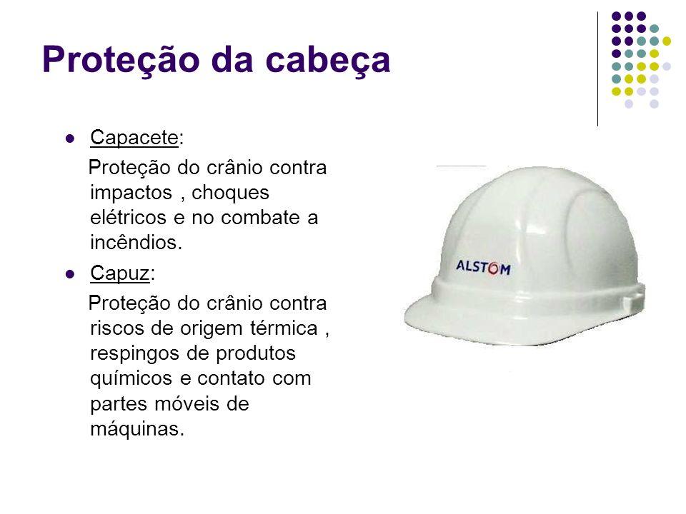 Proteção da cabeça Capacete: