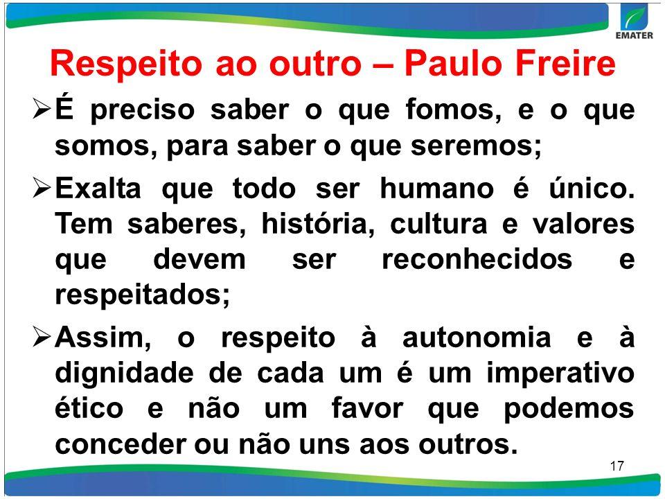 Respeito ao outro – Paulo Freire