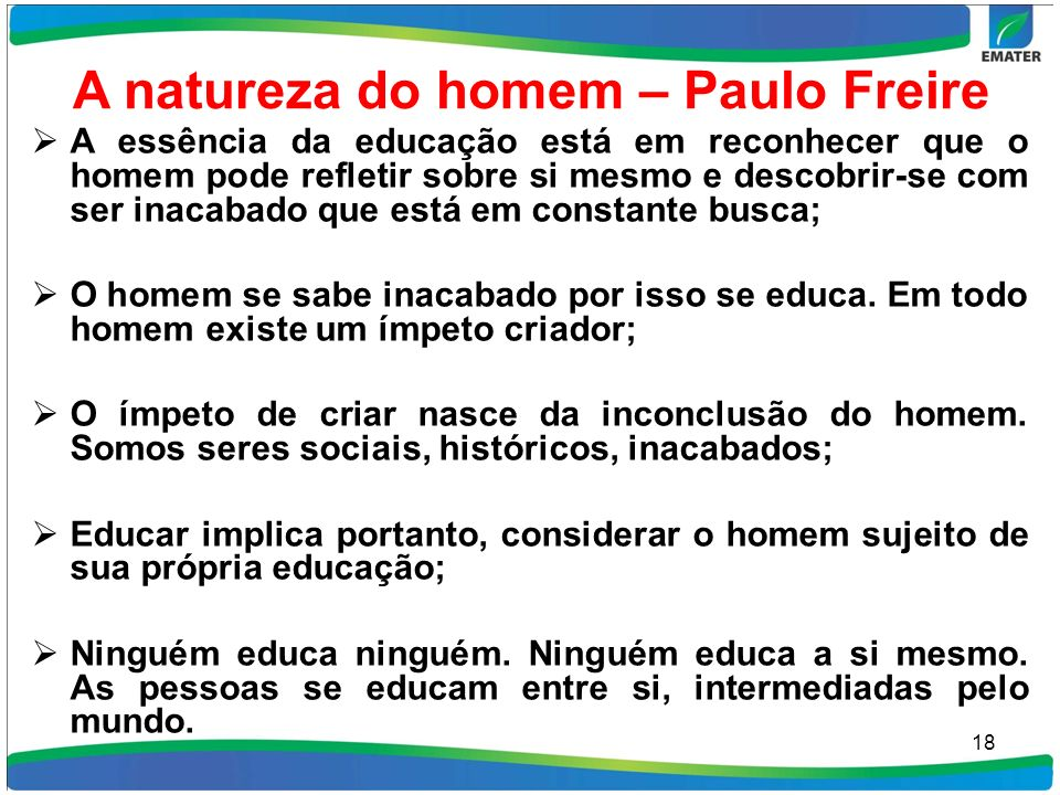 A natureza do homem – Paulo Freire