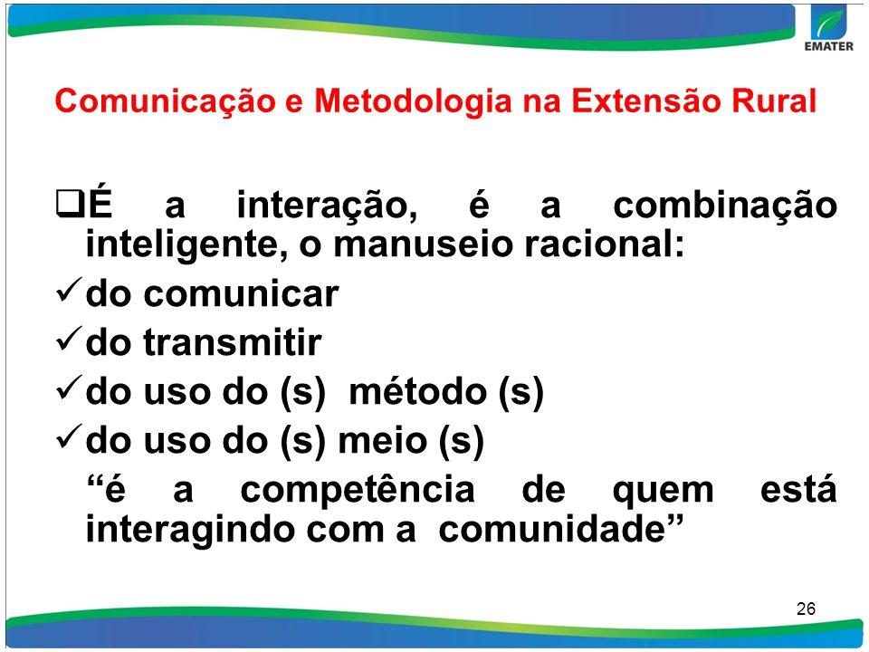 Comunicação e Metodologia na Extensão Rural