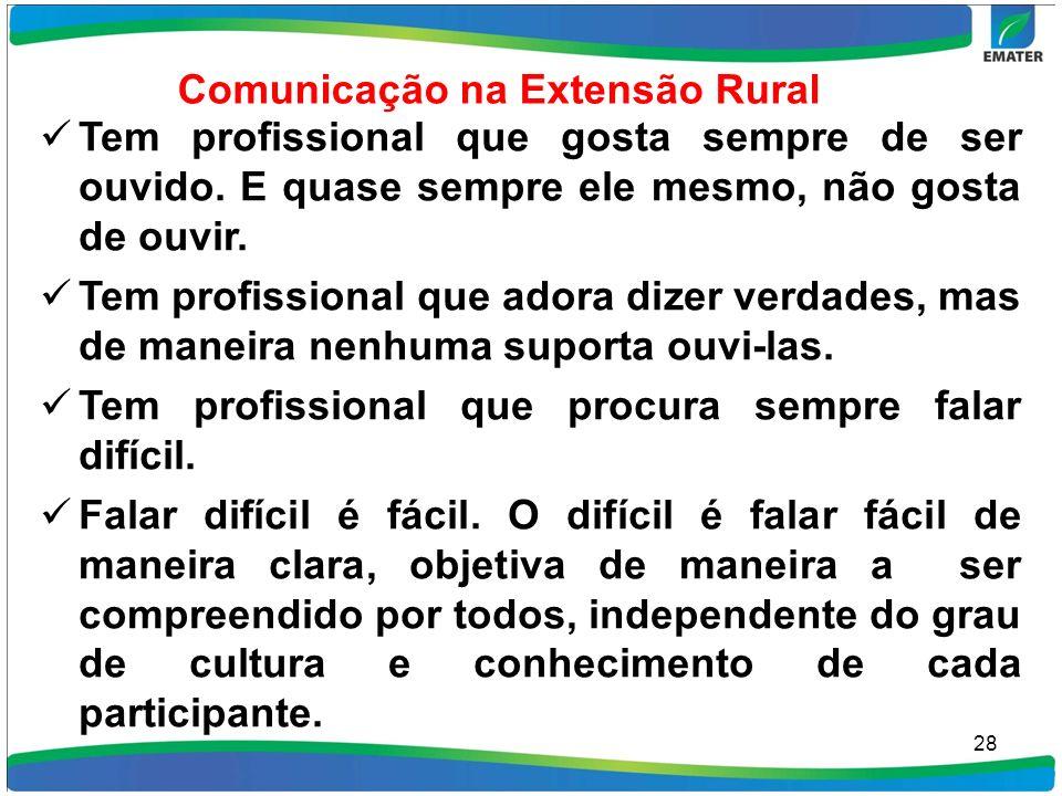 Comunicação na Extensão Rural