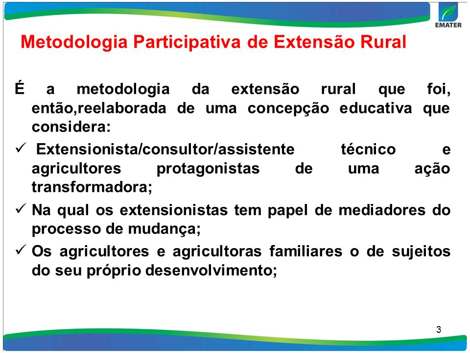 Metodologia Participativa de Extensão Rural