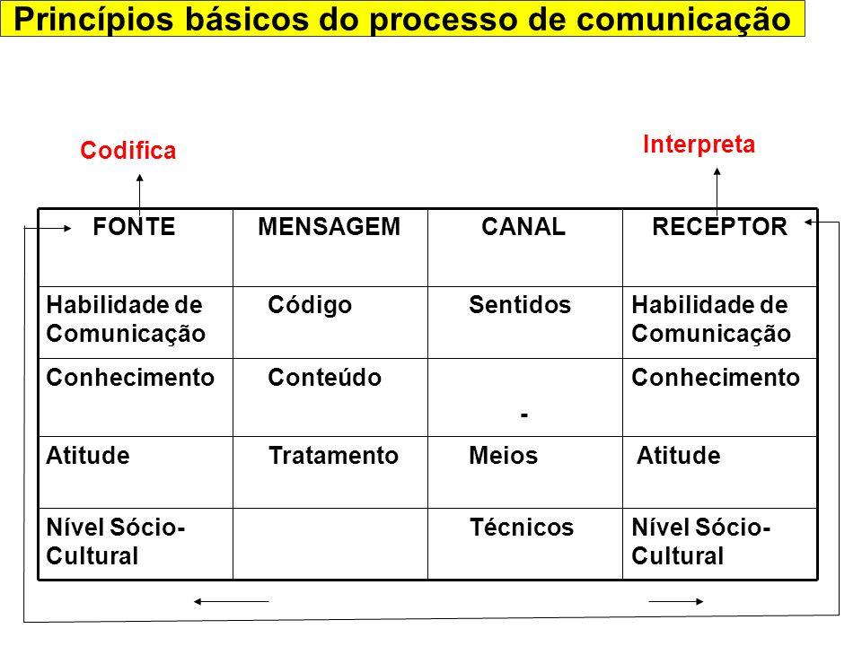 Princípios básicos do processo de comunicação