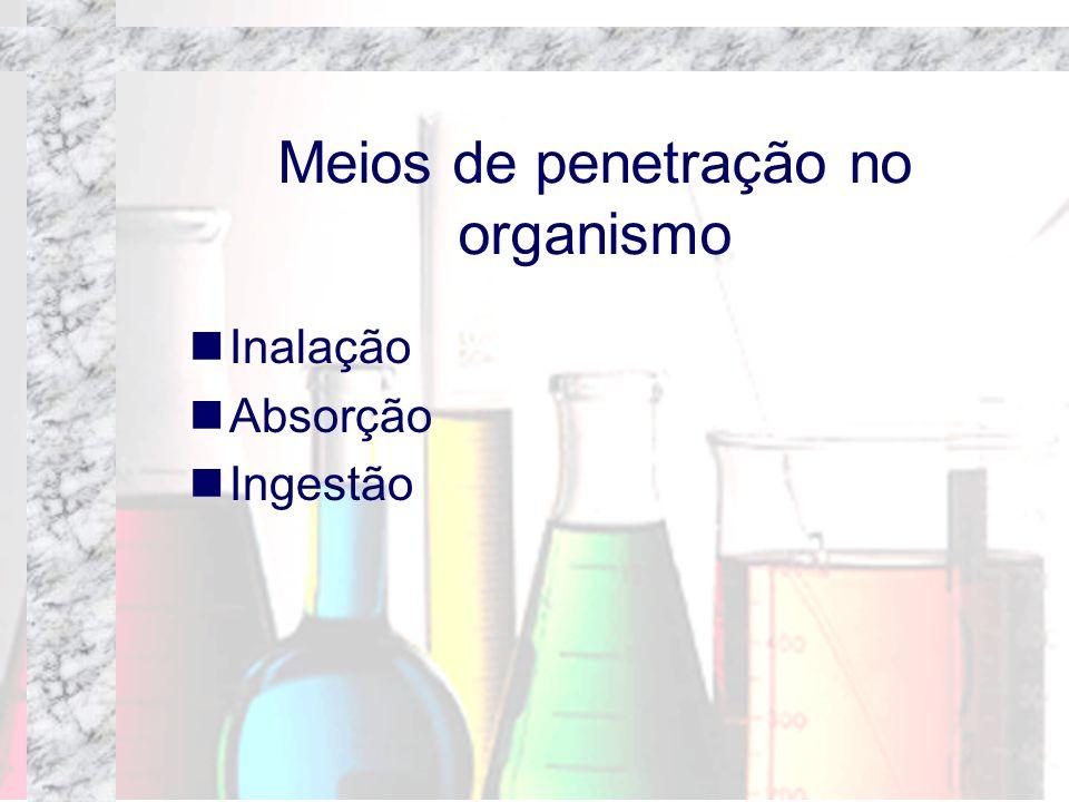 Meios de penetração no organismo