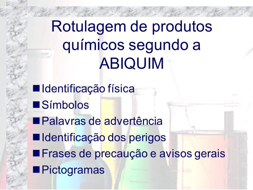 Rotulagem de produtos químicos segundo a ABIQUIM
