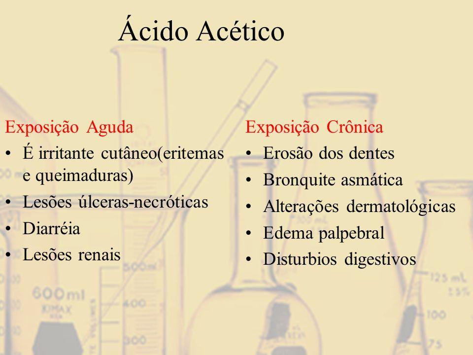 Ácido Acético Exposição Aguda