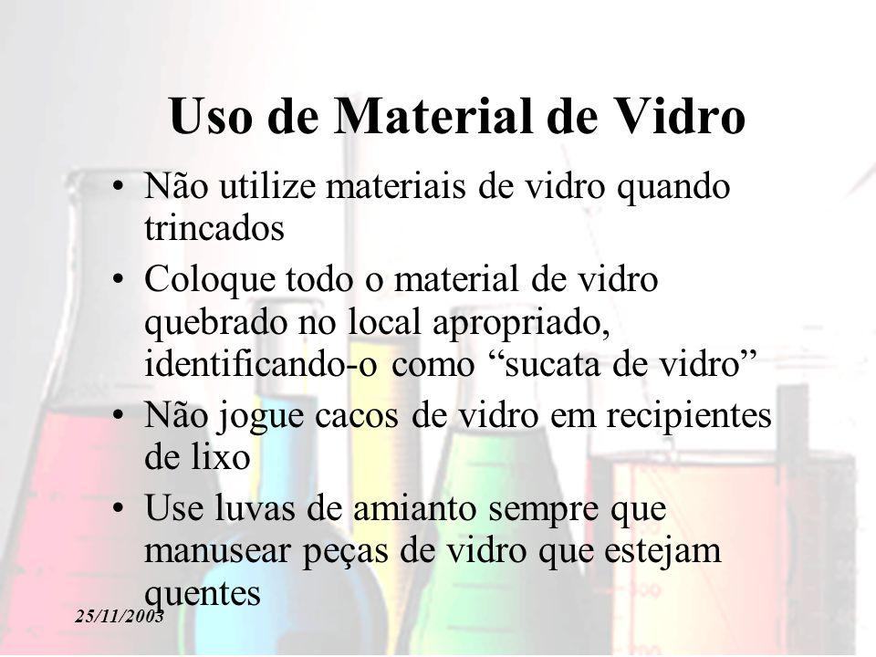 Uso de Material de Vidro