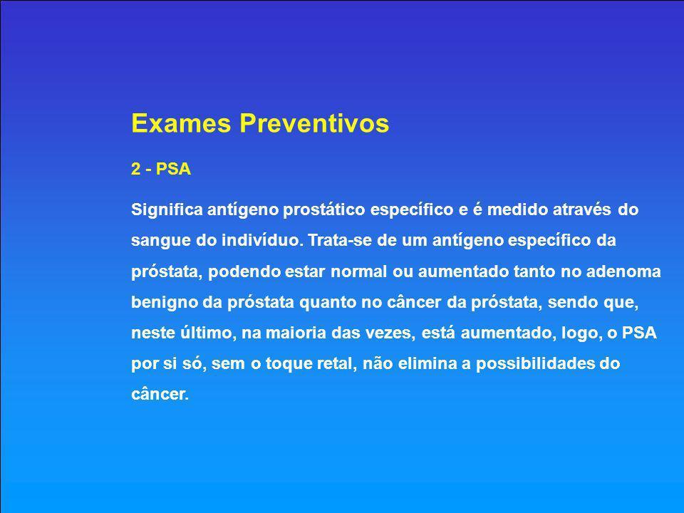 Exames Preventivos 2 - PSA