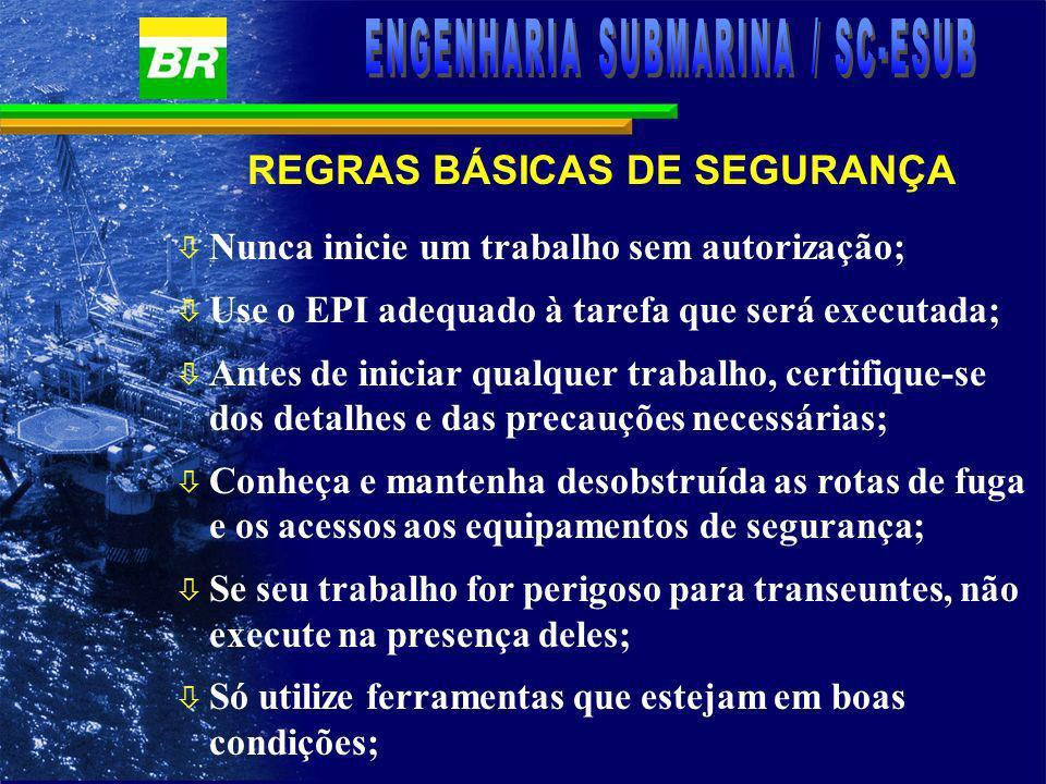 REGRAS BÁSICAS DE SEGURANÇA