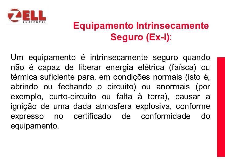 Equipamento Intrinsecamente Seguro (Ex-i):