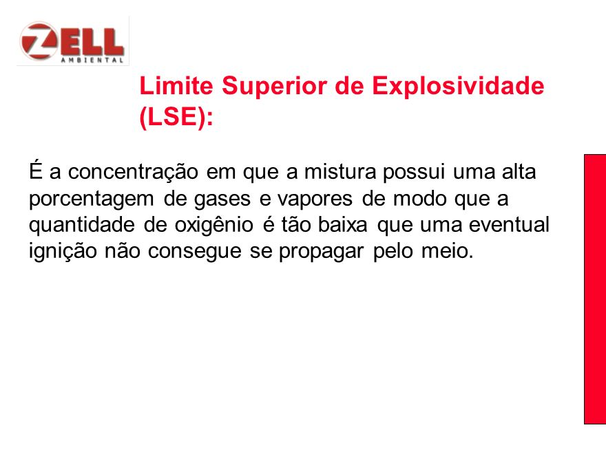 Limite Superior de Explosividade (LSE):