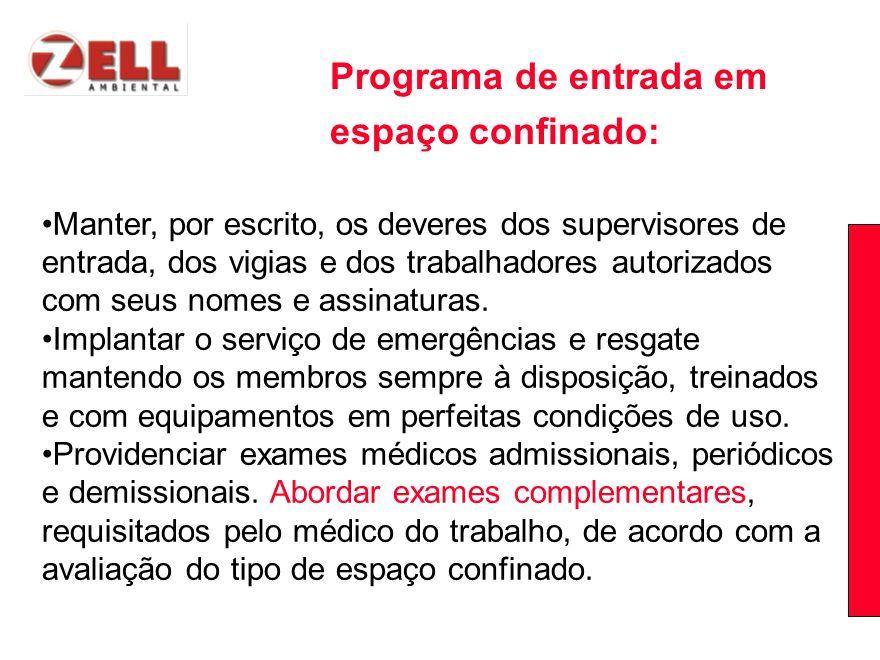 Programa de entrada em espaço confinado: