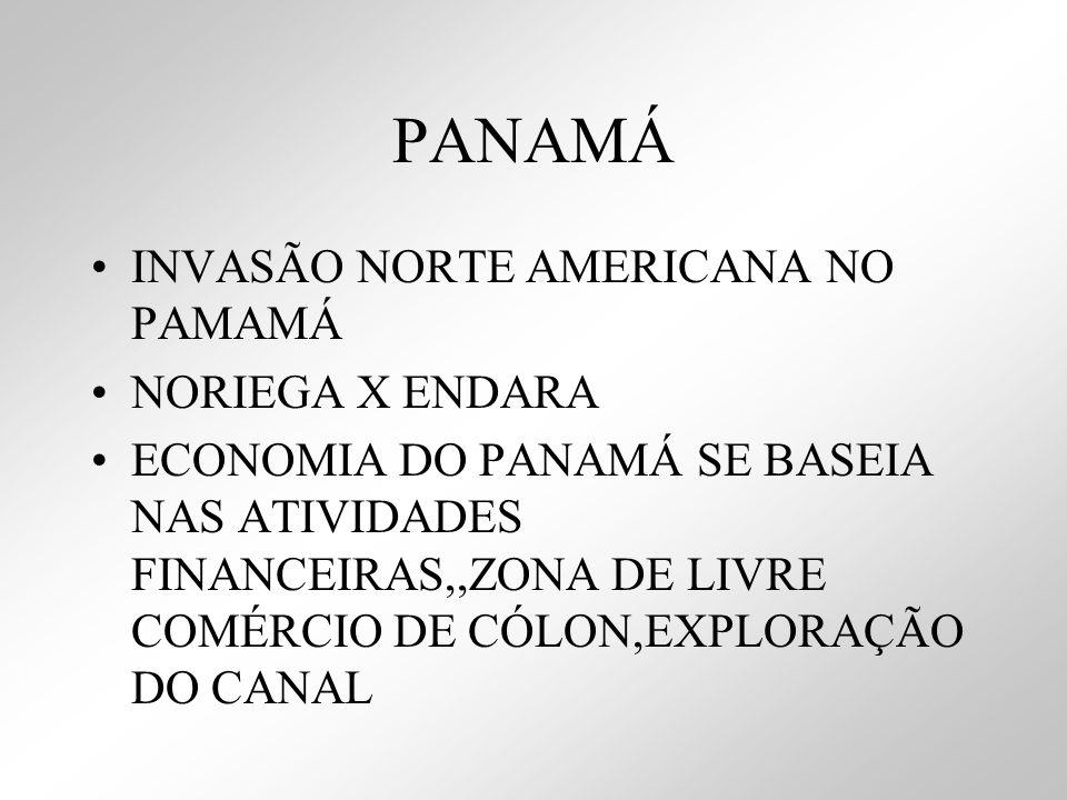 PANAMÁ INVASÃO NORTE AMERICANA NO PAMAMÁ NORIEGA X ENDARA