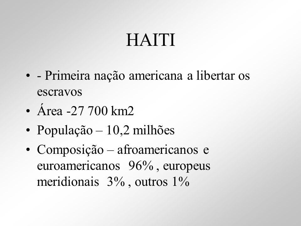 HAITI - Primeira nação americana a libertar os escravos