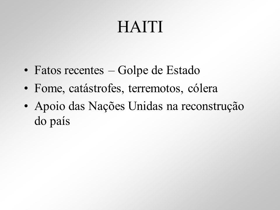 HAITI Fatos recentes – Golpe de Estado