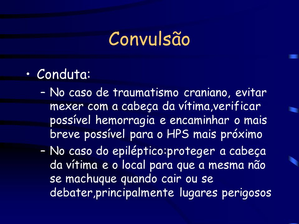 ConvulsãoConduta: