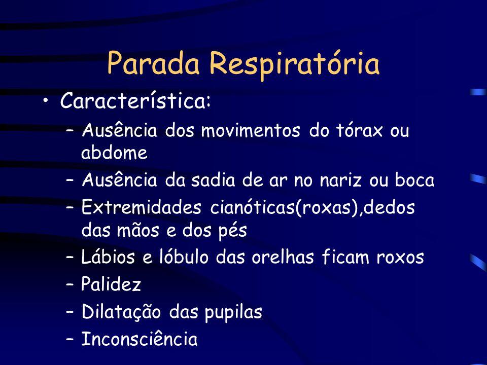 Parada Respiratória Característica: