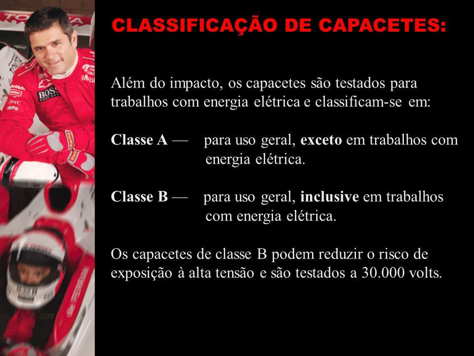 CLASSIFICAÇÃO DE CAPACETES: