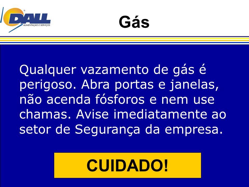 Gás CUIDADO! Qualquer vazamento de gás é