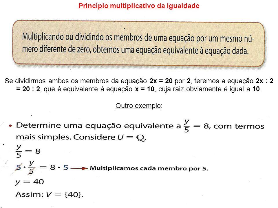 Princípio multiplicativo da igualdade