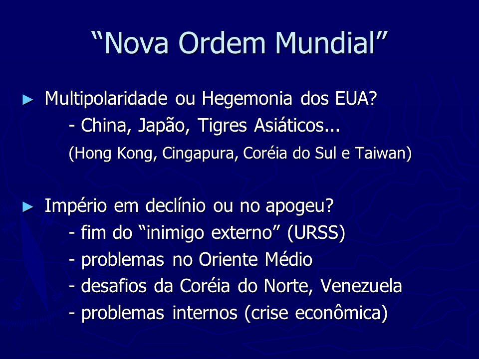Nova Ordem Mundial Multipolaridade ou Hegemonia dos EUA