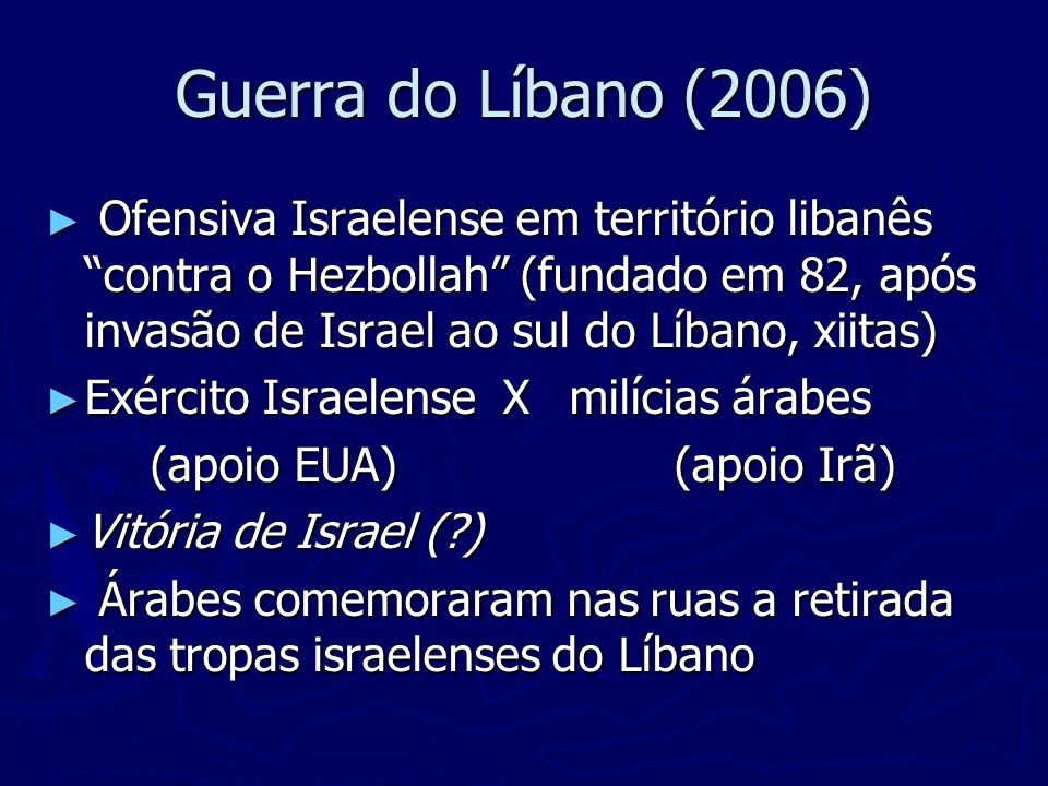 Guerra do Líbano (2006)
