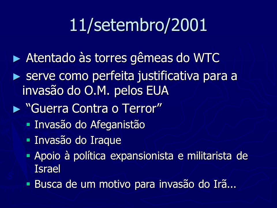 11/setembro/2001 Atentado às torres gêmeas do WTC