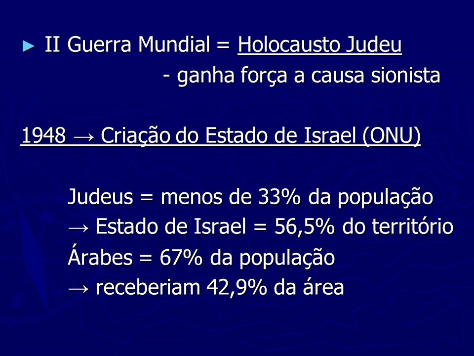 II Guerra Mundial = Holocausto Judeu