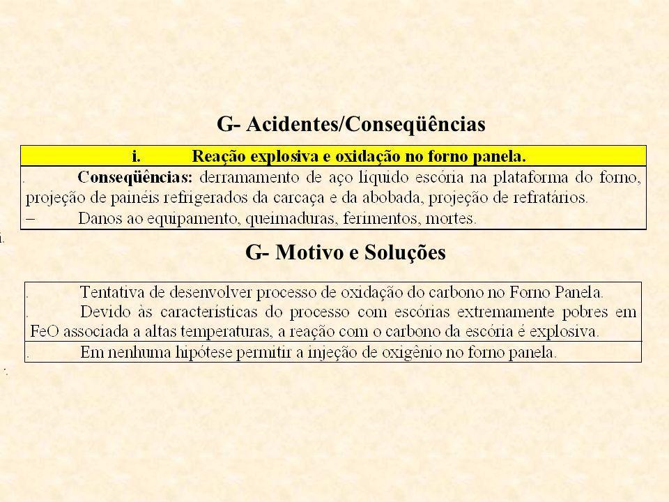 G- Acidentes/Conseqüências