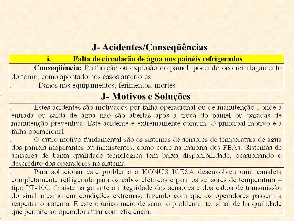 J- Acidentes/Conseqüências